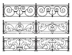 Wrought-iron fence or railing Royalty Free Stock Vector Art Illustration