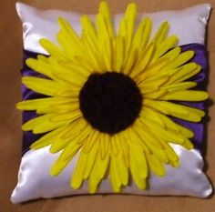 ring bearer wedding pillow sunflower on any color custom by irmart