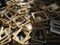 frames, Porta Portese flea market, Rome
