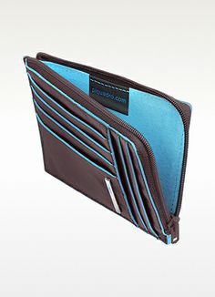 PIQUADRO Blue Square - Zip Around Card Holder