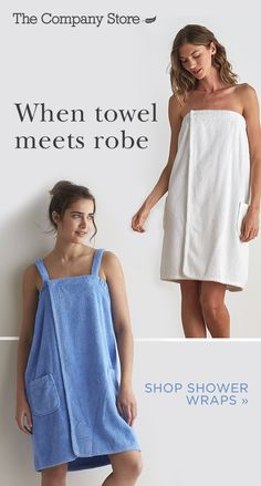 An ingenious cross between a towel and robe, this combed Turkish cotton shower wrap offers the best of both worlds. It's perfect post-shower, at the sauna, or for luxurious lounging at home. Make this the new staple in your bathroom at The Company Store. Diy Clothing, Sewing Clothes, Clothing Patterns, Sewing Patterns, Sewing Hacks, Sewing Tutorials, Sewing Crafts, Sewing Projects, Towel Wrap