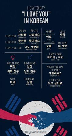 Learn Basic Korean, Learn Japanese Words, Love In Korean, Korean Words Learning, Korean Language Learning, Korean Phrases, Korean Quotes, Learn Korean Alphabet, Learn Hangul