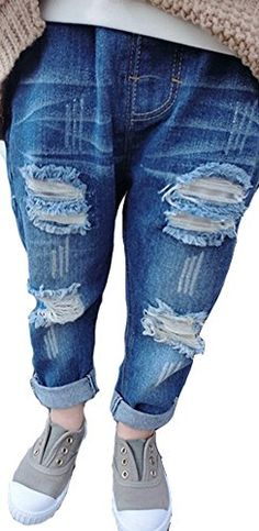 Size is difference according to manual measurementThank for your understanding -------------------------------------------------------- Girls Ripped Jeans, Jeans Boyfriend, Skinny Jeans, Denim Pants, Trousers, Baby Boy, Baby Girls, Casual Jeans, Girl Outfits