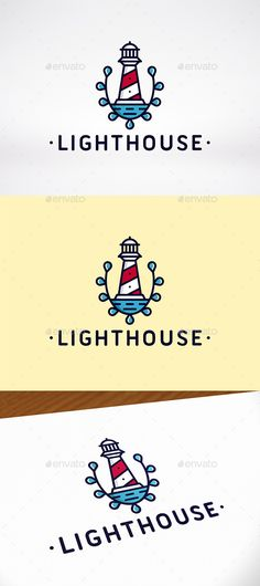 Lighthouse Crest Logo Template — Vector EPS #marine #water drop • Available here → https://graphicriver.net/item/lighthouse-crest-logo-template/12071804?ref=pxcr