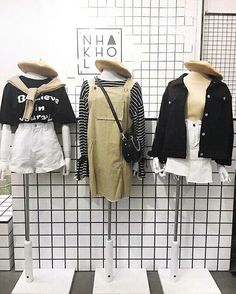 korean fashion trends which is gorgeous. Korean Outfits, New Outfits, Trendy Outfits, Cute Outfits, Fashion Outfits, Korean Fashion Trends, Korea Fashion, Asian Fashion, Korean Clothing Stores
