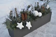 Image result for truhlíky vánoce Christmas Time, Christmas Wreaths, Xmas Crafts, Xmas Decorations, Holiday Decor, Creative, Plants, Minis, Outdoor