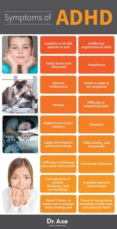 ADHD Symptoms  http://www.draxe.com #health #natural #holistic