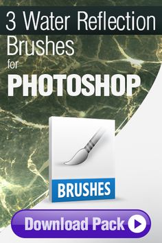 Photoshop Brushes: 3 Water Reflection Brushes for Photoshop http://pixelstains.net/photoshop-brushes-painting-water-reflections/