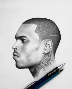 Chris Brown Drawing, Chris Brown Art, Drawing Artist, Drawing Sketches, Cool Art Drawings, Pencil Drawings, Dope Art, Latte Art, Nail Arts