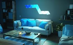 Hacking the Nanoleaf So there's this lighting kit that's 200 bucks, and it's 9 triangular LED panels plus an LED … Light Panel, Led Panel, Unique Lighting, Lighting Design, Nanoleaf Designs, Nanoleaf Aurora, Nanoleaf Lights, Smart Kit, Table And Bench Set