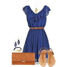 """""""Blue and Brown"""" by jessicagreene123 on Polyvore"""