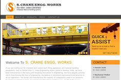 #WebDesign - This is our client - S.CRANE ENGG WORKS site made at by us. Completenet is one of the most trusted web design company and we ensure that all your design requirements are met.