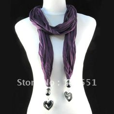 Aliexpress.com : Buy Unique Fashion, Crystal Heart Pendant Purple Jewelry Scarf / Cute Shawl With Europe Design, Wholesale  Retail, NL 1251C from Reliable scarf suppliers on Well Done Fashion Jewelry Co.,Ltd. $9.50