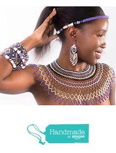 statement piece oversized necklace Black//white//gunmetal Traditional African Zulu wedding necklace beaded