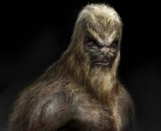 Sort of Qwibish, but too much hair for what I'm thinking. Like the light hair on darker skin, though. If the skin were more eggplant colored, and the hair really, really fine and not as full, except for more of a tuft or almost mohawk on the head, we'd be really close. Alien Ape by ~vshen on deviantART