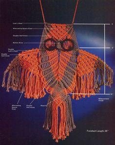 Macrame Pattern Book  EASILY DONE MACRAME  Owls di KenyonBooks