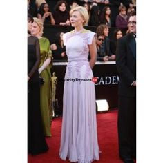 Cate Blanchett Lilac Chiffon Evening Prom Gown Celebrity Dress Replicas For Sale Oscars 2011