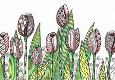 Tulip Garden by Judy's Creative Doodling, via Flickr