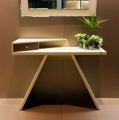 Mirta from Antonello Italia.  Choice of wood, colors shiny or matte finish #funky #modern
