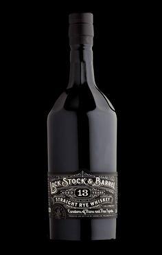 Lock, Stock & Barrel whiskey, packaging by Stranger & Stranger. Featured on Package Inspiration