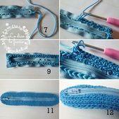 Crochet Bag Tutorials, Crochet Purse Patterns, Crochet Basics, Crochet Wallet, Crochet Gifts, Knit Crochet, Crochet Handbags, Crochet Purses, Crochet Pencil Case