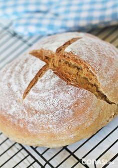 Pan de espelta, centeno y harina de garbanzos ¡muy nutritivo!