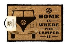 Campervan Gift - VW Home is Where the Campervan is Doormat, (http://www.campervangift.co.uk/vw-home-is-where-the-campervan-is-doormat/)
