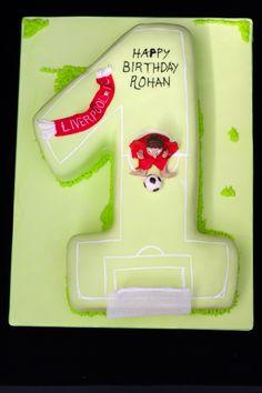Number 1 football cake