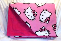 Check out this item in my Etsy shop https://www.etsy.com/listing/209796577/hello-kitty-pink-blanket-double-sided
