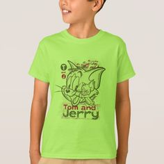 Tom and Jerry Pink and Green T-Shirt - tap, personalize, buy right now! Boys T Shirts, T Shirts For Women, Tom And Jerry Cartoon, Oscar The Grouch, Classic Cartoons, Pink And Green, Shirt Style, Fitness Models, Toms