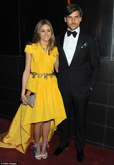 7701074eb1 Olivia and Johannes attended the event which benefits young people in  foster care Couture