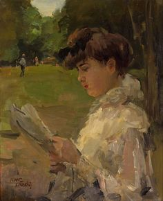 The Athenaeum - Girl Reading (Isaac Israels - )