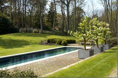 Garden and pool in Belgium