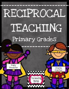 Reciprocal Teaching for Primary Grades - Pinning Party on TPT - This is a multi-level Reciprocal Teaching resource to use in the primary grades. This bundle cov - Teaching Skills, Teaching Kindergarten, Teaching Ideas, Reciprocal Teaching, Responsive Classroom, Project Based Learning, Graphic Organizers, Rubrics, Task Cards