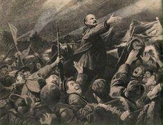 V.I. Lenin I See Red, That Look, Painting, Art, Doodles, Illustrations, Drawings, Wrestling, Soviet Union