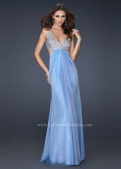 La Femme 17472 Beaded Evening Gown