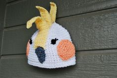 Cockatiel Crochet Hat by VivaciousVivi on Etsy, $34.00