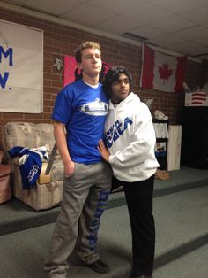 Our very own Sam Paepke and Mohan Sudabattula Modeling our brand new apparel!