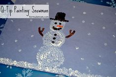 Q-tip Painting: Snowman #Craft http://formulamom.com/q-tip-painting-snowman-craft/
