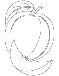 Apple With A Leaf Coloring Pages