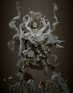 Shiva Art, Hindu Art, Asura's Wrath, Lord Shiva Pics, Hindu Deities, Hinduism, Lord Vishnu Wallpapers, Alien Concept Art, Art Station