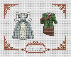 Outlander cross stitch pattern pdf. Claire and Jamie Fraser