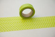 Tape PUNKTE grün Apfelgrün hellgrün  von washitapes auf DaWanda.com