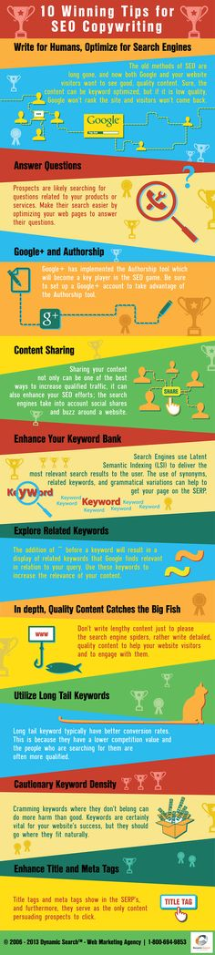 10 Winning Tips for SEO Copywriting SEO copywriting and content creation is an essential component to any web marketing campaign, and it is not rocket science!