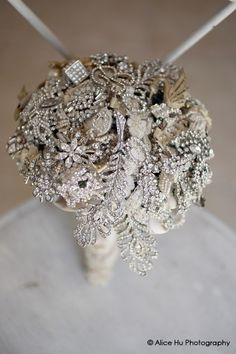 Bling in The New Year Vintage Brooch Bouquet solid Crystal amazing Bouquet | Brooch Bouquets