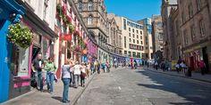 Shopping on Victoria Street, Old Town Edinburgh
