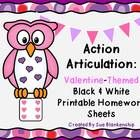This black and white printable has a Valentine's Day theme that the speech pathologist can send home with students to practice their articulation s...