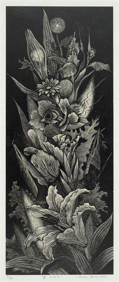 Архив ЖЖ с апдейтом (Из Библиотеки Конгресса США)-часть 1 On the Cutting Edge - Contemporary Japanese Prints from The Library of Congress Man Zhuang Sure Signs of Spring-Gorgeousness 2005 Mezzotint Hiromi Miura;Yukie Nakano подробно Hiromi…