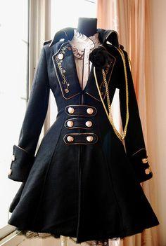 black velvet lolita jacket with golden embroidery