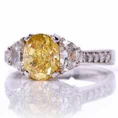 For 25 years, Dover Jewelry & Diamonds has offered unique vintage & antique jewelry. Enhance your collection with authentic pieces of fine jewelry. Yellow Diamond Engagement Ring, Platinum Engagement Rings, Beautiful Engagement Rings, Antique Engagement Rings, Round Cut Diamond, Diamond Jewelry, Fine Jewelry, Bling, Fancy